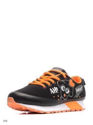 Кроссовки Kakadu. Цвет: черный, оранжевый