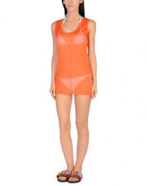 Пляжное платье GRAZIA'LLIANI SOON. Цвет: оранжевый