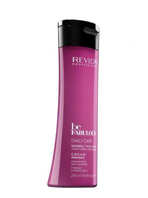 Ежедневный уход для нормальных/густых волос. C.R.E.A.M. очищающий шампунь RP BE FABULOUS 250 мл Revlon Professional. Цвет: фуксия
