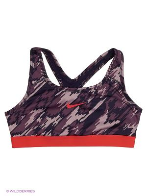 Топ G NP BRA CLASSIC AOP2 Nike. Цвет: фиолетовый