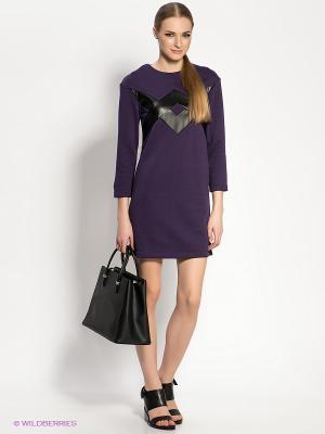 Платье DOCTOR E. Цвет: фиолетовый, черный