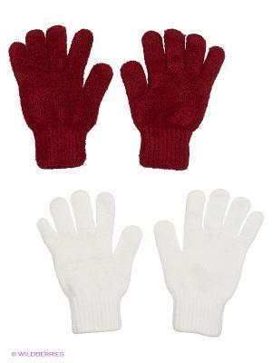 Перчатки - 2 пары FOMAS. Цвет: бордовый, белый
