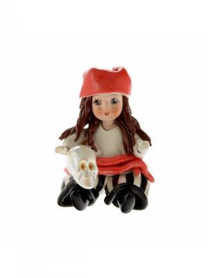 Статуэтка Девочка-пиратка Zampiva. Цвет: красный, белый, черный