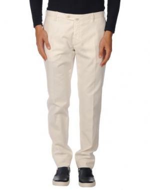 Повседневные брюки LUIGI BIANCHI Mantova. Цвет: слоновая кость
