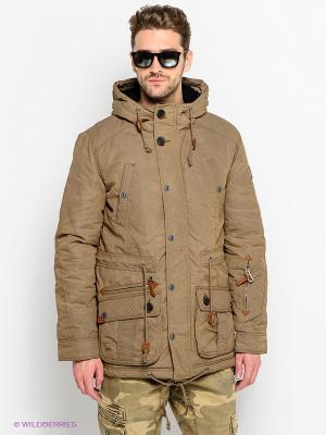 Куртки Timezone. Цвет: светло-коричневый