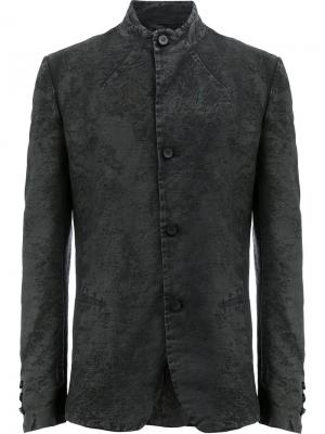 Пиджак узкого кроя с воротником-стойкой Masnada. Цвет: чёрный