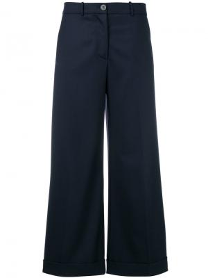 Широкие укороченные брюки Erika Cavallini. Цвет: синий