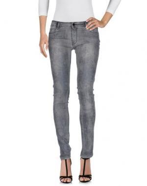 Джинсовые брюки AARCC. Цвет: серый