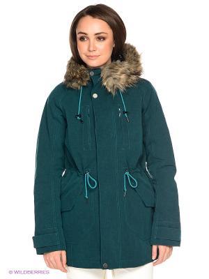 Куртка Burton. Цвет: темно-зеленый