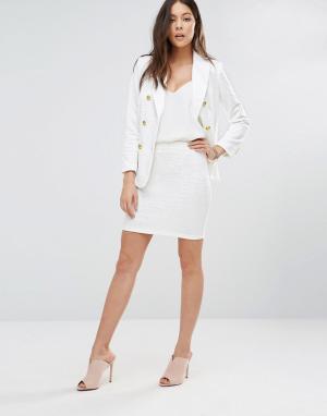 Unique 21 Облегающая мини-юбка. Цвет: белый