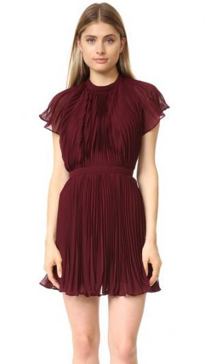 Плиссированное мини-платье Come Back Keepsake. Цвет: инжир