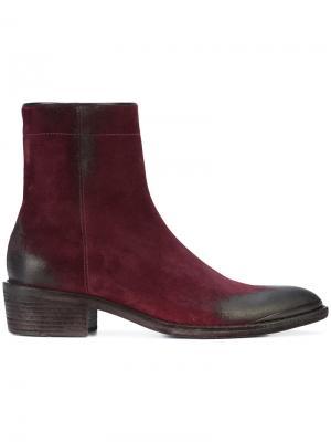 Ботинки с заостренным носком Haider Ackermann. Цвет: розовый и фиолетовый
