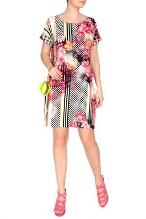 Платье FIRST. Цвет: розовый