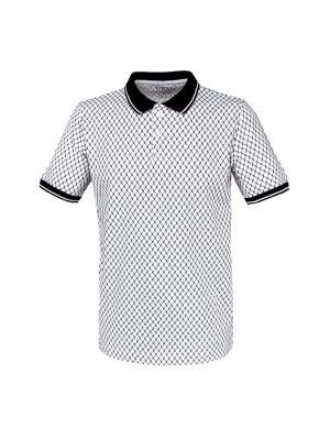 Футболка-поло GREG. Цвет: белый, черный