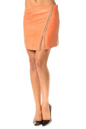 Skirt Pellessimo. Цвет: оранжевый