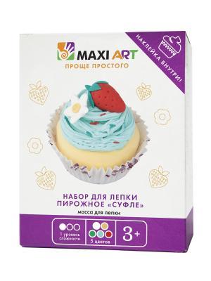 Набор для Лепки. Пирожное Суфле (МА-0816-08) MAXITOYS. Цвет: бежевый, красный, белый, бирюзовый, голубой