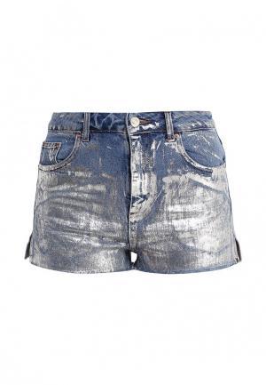 Шорты джинсовые Topshop. Цвет: серебряный