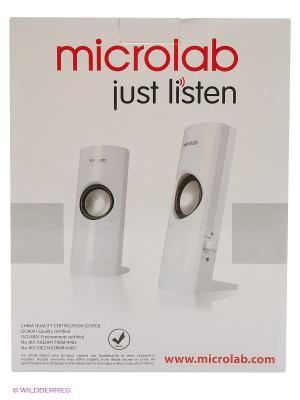 Колонки Microlab B-18 2.0, 3 Вт. Цвет: белый