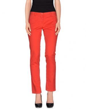 Повседневные брюки UZÈS. Цвет: красный