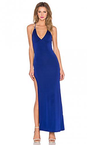 Платье soren sky. Цвет: синий