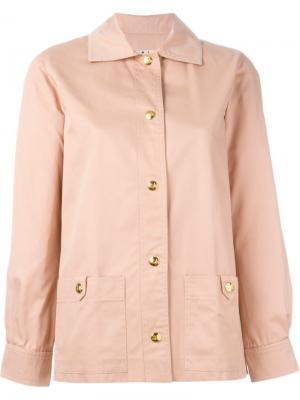 Классическая куртка Céline Vintage. Цвет: розовый и фиолетовый