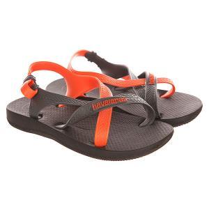 Сандалии детские  Kids Explorer Black/Orange Havaianas. Цвет: черный,оранжевый