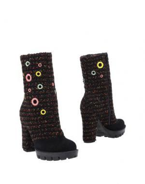 Полусапоги и высокие ботинки KRISTINA TI. Цвет: черный