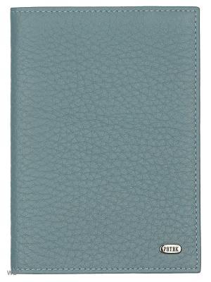Обложка на паспорт Petek. Цвет: темно-синий, серебристый, серый