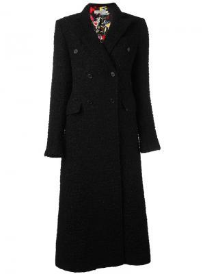 Длинное твидовое пальто Piccione.Piccione. Цвет: чёрный