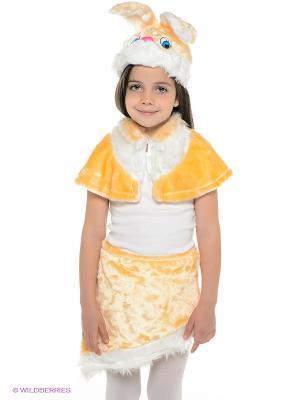 Карнавальный костюм Зайка Ксюша Батик. Цвет: желтый