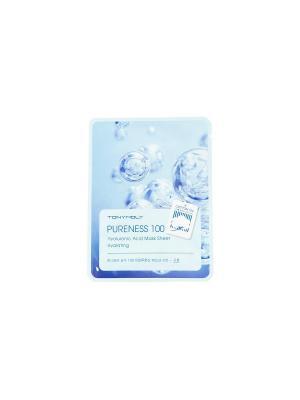 Набор тканевых масок PURENESS  с экстрактом гиалуроновой кислоты, 21мл Tony Moly. Цвет: белый