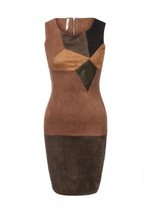 Платье Stella Morgan. Цвет: коричневый