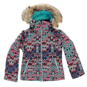 Куртка детская  Jetty Ski Sequin_paradise Pink Roxy. Цвет: черный,мультиколор