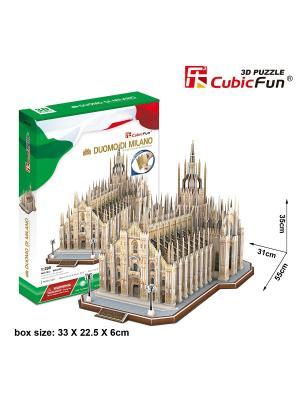 Игрушка Миланский Собор (Италия) CubicFun. Цвет: белый, зеленый