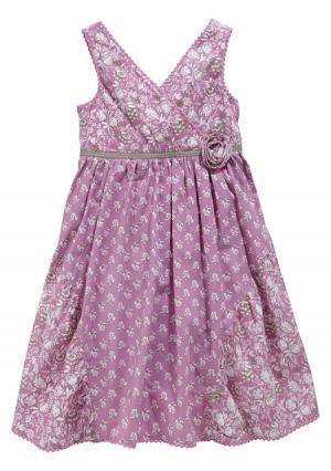 Платье KIDOKI. Цвет: ягодный с рисунком