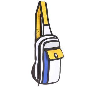 Сумка через плечо  2D Little Case Blue/Yellow/Black Jump from paper. Цвет: синий,желтый,черный