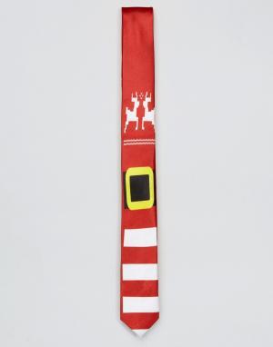 SSDD Новогодний галстук. Цвет: красный
