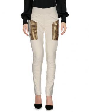 Повседневные брюки VICEDOMINI. Цвет: слоновая кость