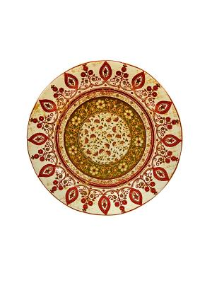 Тарелка обеденная Шахрисабс Elff Ceramics. Цвет: желтый, коричневый, оранжевый