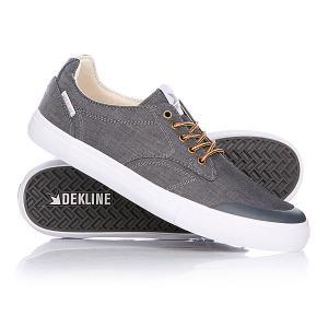 Кеды кроссовки низкие  Tim Pewter/White Dekline. Цвет: серый