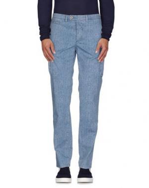 Джинсовые брюки PIATTO. Цвет: синий