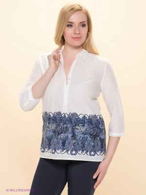 Блузка Betty Barclay. Цвет: белый, темно-синий