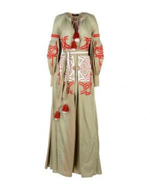 Длинное платье WANDERING. Цвет: зеленый-милитари