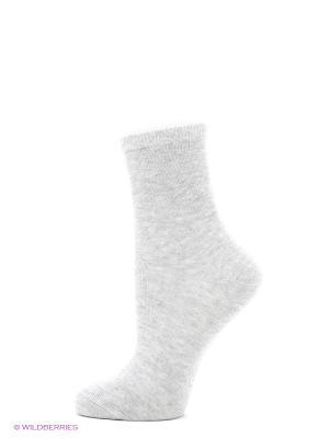 Носки, 3 пары Oodji. Цвет: светло-серый, розовый