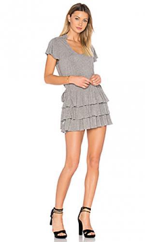 Вязаное мини платье beverly Marissa Webb. Цвет: серый