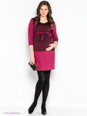 Платье EUROMAMA. Цвет: фуксия