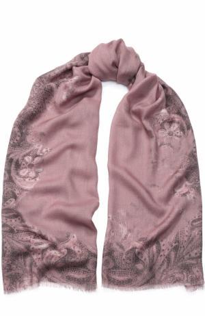Кашемировый шарф с принтом Piacenza Cashmere 1733. Цвет: розовый