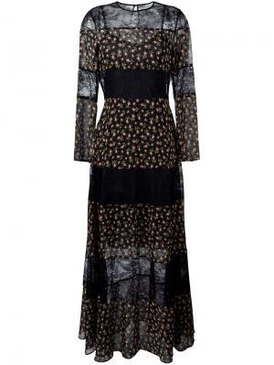 Полупрозрачное платье Philosophy Di Lorenzo Serafini. Цвет: чёрный