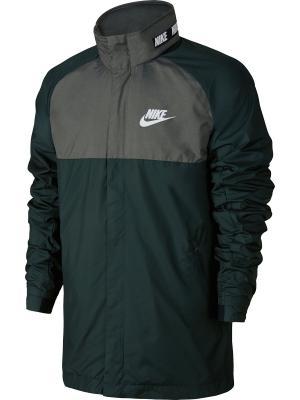 Куртка M NSW AV15 JKT HD WVN WNGR Nike. Цвет: зеленый, черный