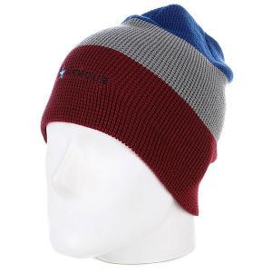 Шапка носок  Stripe Beanie Red/Grey Armour. Цвет: красный,серый